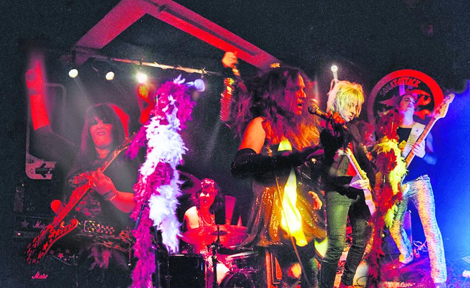 Jim Juvenile (Mitte) und die «Gutter Queens». Foto und Montage: zVg