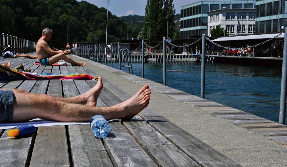 Weil diese Kette abmontiert wurde, beschwerte sich Bert Schneider bei der Stadt. Das Bild stammt aus dem letzten Sommer. Foto: Peter Pfister