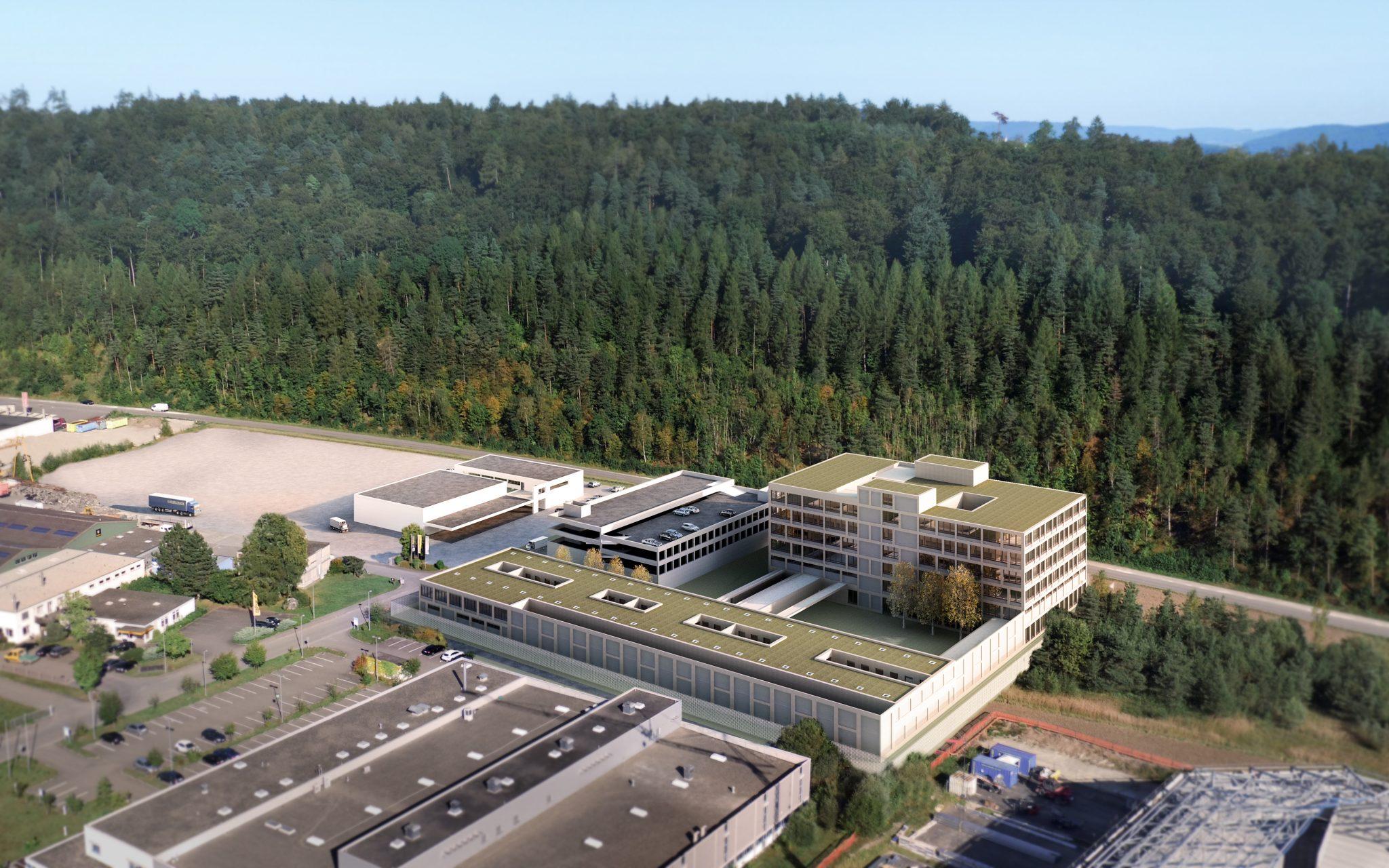 Das geplante Sicherheitszentrum im Herblingertal. Visualisierung: zVg