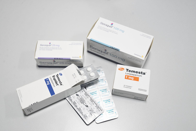 Temesta und Seroquel: Zwei für Senioren «potenziell inadäquate Medikamente», die in Altersheimen aber täglich verwendet werden. Foto: Stefan Kiss