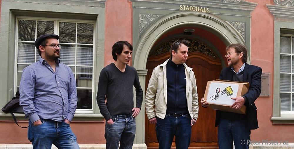 Matthias Frick, Mattias Greuter, Claudio Kuster, Christian Schneider (v.l.). Foto: Peter Pfister