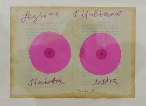 Bei diesem Werk von Fritz Sauter ist sich Elmo sicher: «Das sind zwei CDs.» Freda hingegen sieht Augen. Fotos: Peter Pfister