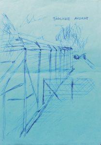 Die Zeichnung lag Luca W.s erstem Brief an die AZ bei.