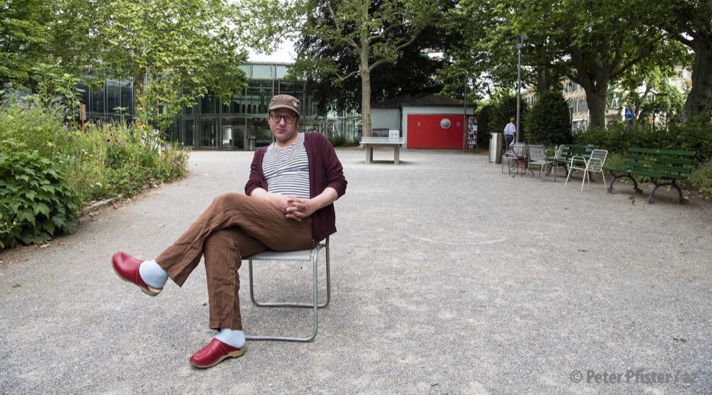 Der Autor an einem seiner Lieblingsorte, dem Lorraine-Park in Bern.