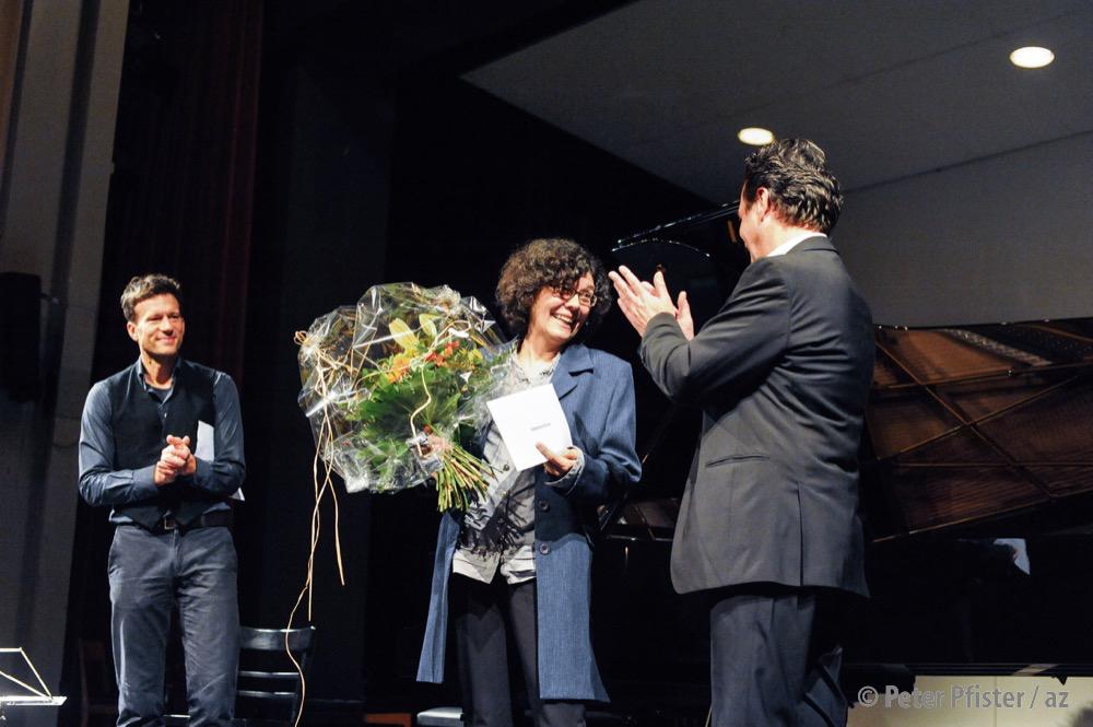 2013 wurde Katharina Furrer mit dem Werner-Amsler-Kulturpreis geehrt. Für gewöhnlich wirkt sie hinter der Bühne.