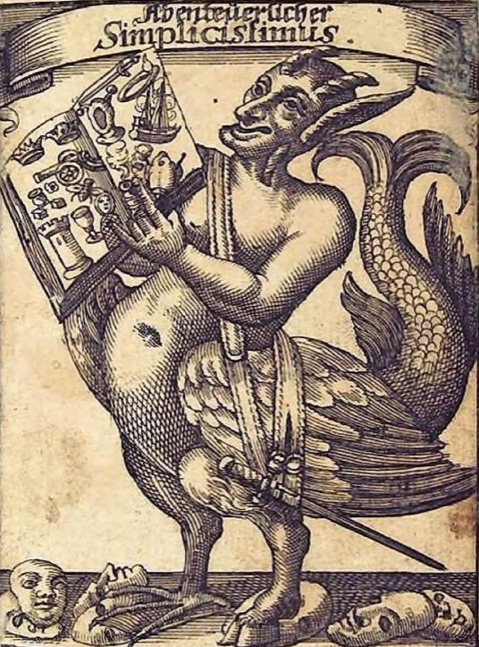Der Sartyr zierte die Erstausgabe des Simplicissimus. Seine Geste steht dafür, dass er der Leserschaft Hörner aufsetzt.