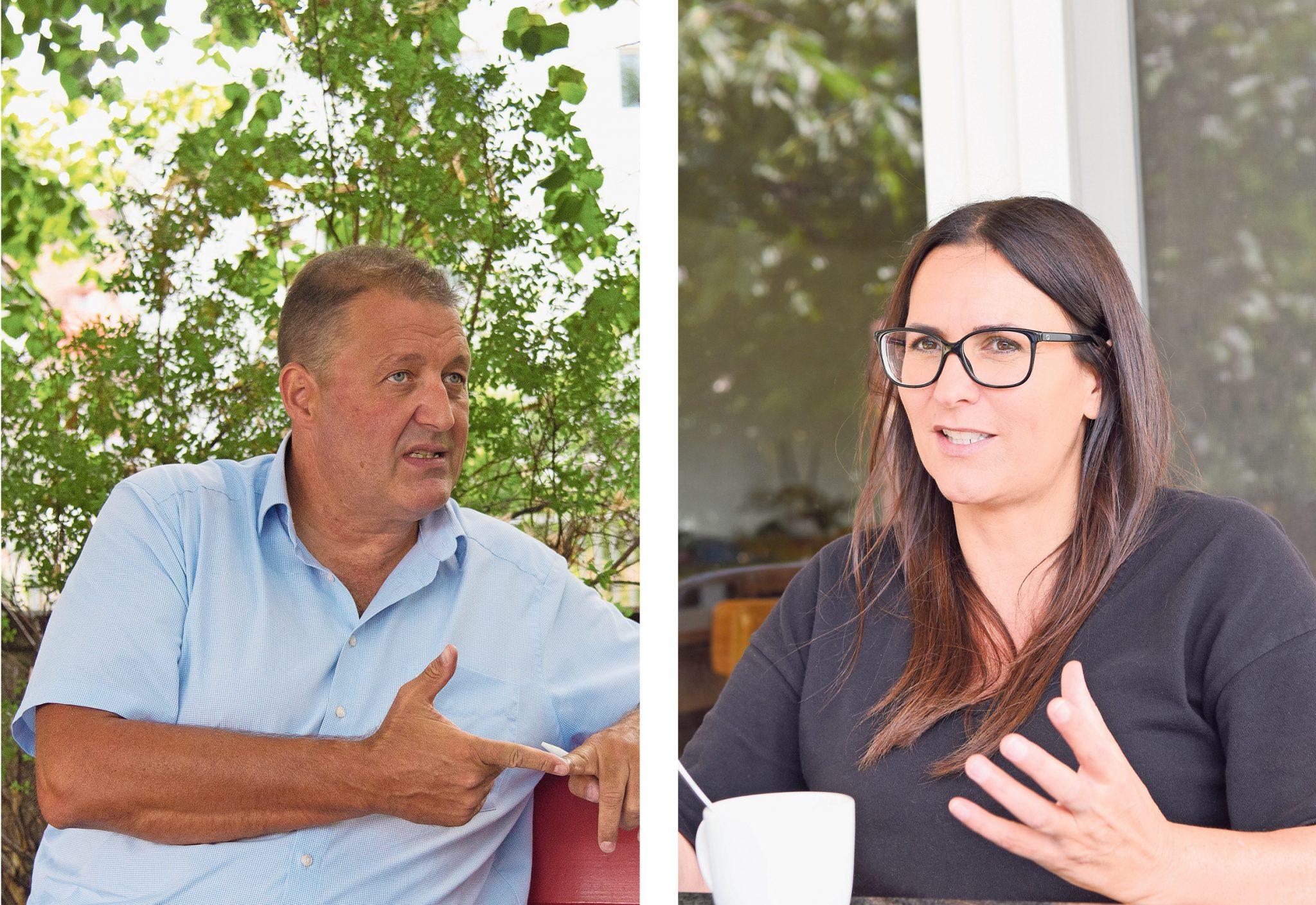 Thayngen hat die Wahl zwischen Marcel Fringer (FDP, links) und Andrea Müller (SVP): Unabhängigkeit oder Politdynastie? © Julia Leppin / Peter Pfister