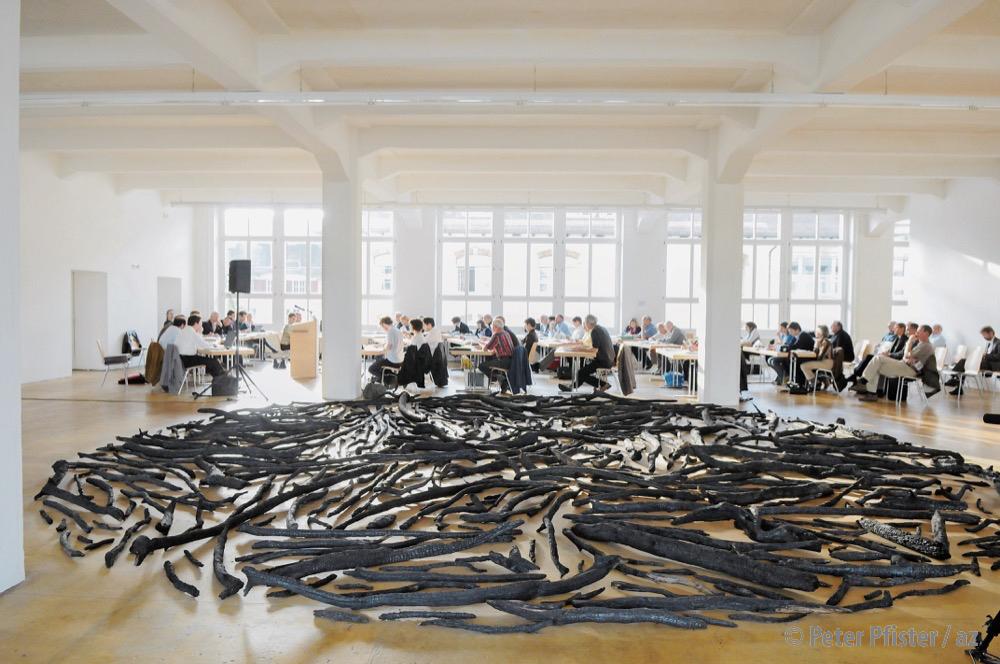 Die Politik und die Kammgarn, eine lange gemeinsame Geschichte: 2009 tagte der Grosse Stadtrat gar in den «Hallen für Neue Kunst». Foto: Peter Pfister