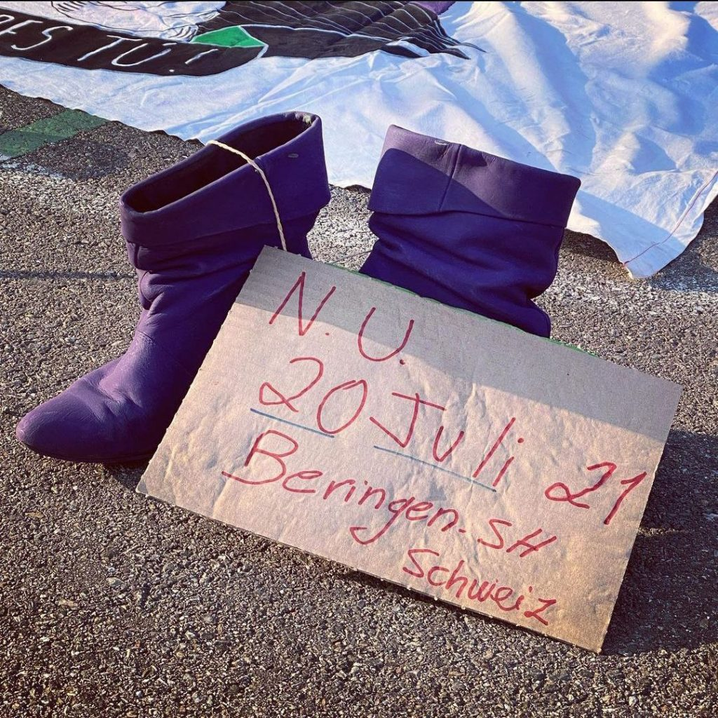 Am Protest letzte Woche in Zürich wurde auch der Frau in Beringen gedacht.